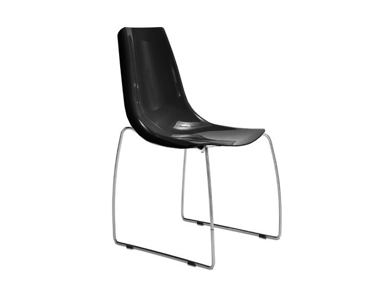 Jídelní židle Lynea-T - Jídelní židle (chrom, černá)