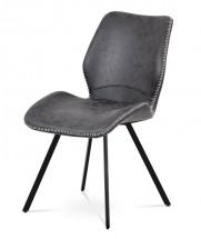 Jídelní židle Maddy šedá, černá