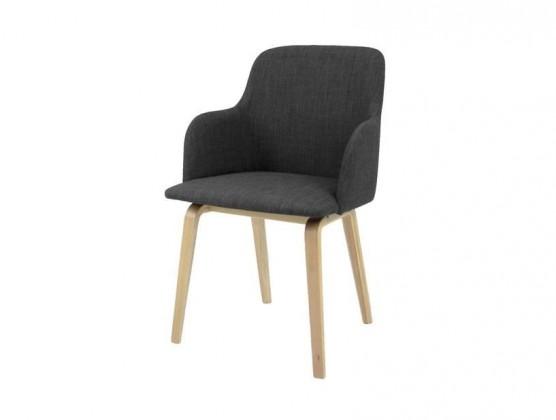 Jídelní židle Mary - Jídelní křesílko (dub, látka antracitová)