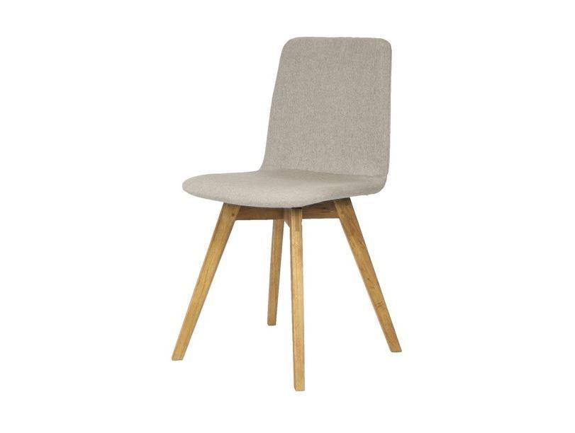 Jídelní židle Mia - Jídelní židle (dub, látka šedá)