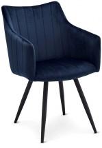 Jídelní židle Mijas modrá, černá