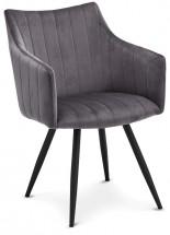 Jídelní židle Mijas šedá, černá
