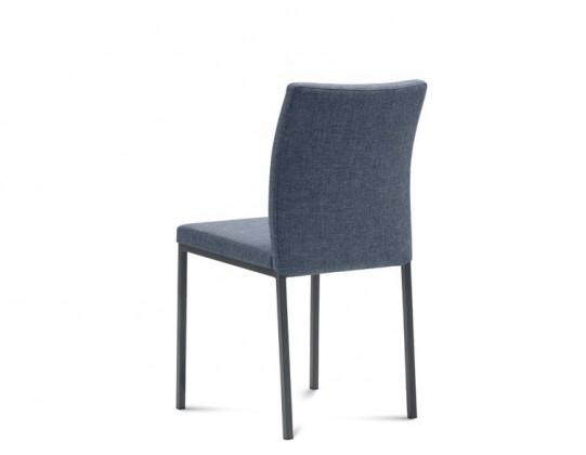 Jídelní židle Miro - Jídelní židle (lak antracit mat, látka jeans)