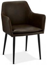 Jídelní židle Monda tmavě hnědá, černá