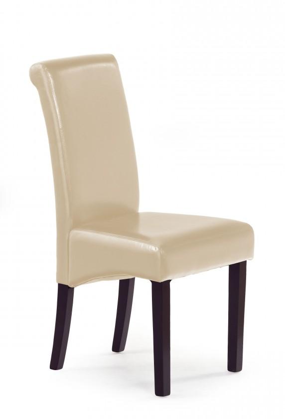 Jídelní židle Nero - Jídelní židle, nosnost 120 kg (wenge/ béžová)