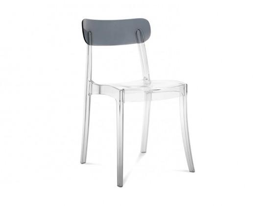Jídelní židle New Retro - Jídelní židle (průhledná, kouřově šedá)