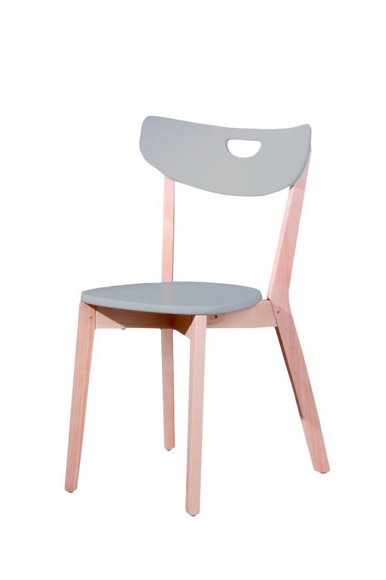 Jídelní židle Peppi  (šedá, masiv)