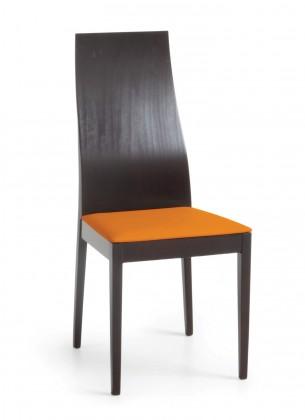 Jídelní židle Pinoza (wenge/látka carabu oranžová)