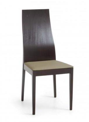 Jídelní židle Pinoza (wenge/látka carabu šedobéžová)