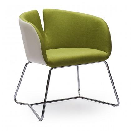 Jídelní židle PIVOT - zelená, područky