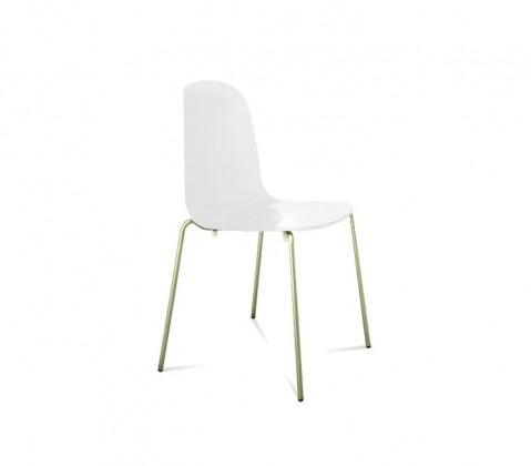 Jídelní židle Playa (chromovaná ocel, bílá)