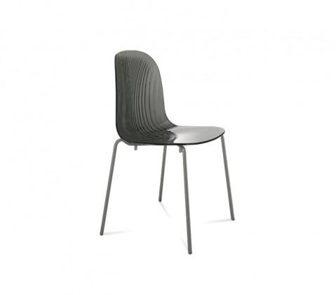 Jídelní židle Playa (lak antracit mat, kouřová šedá)