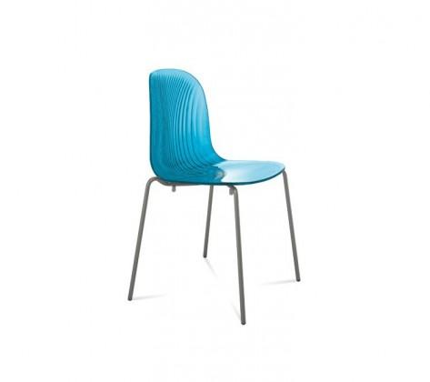 Jídelní židle Playa (lak antracit mat, světle modrá)