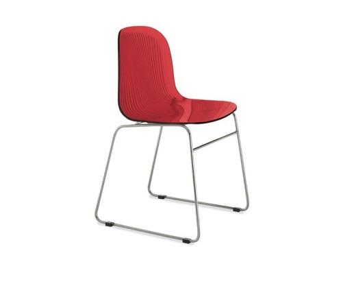 Jídelní židle Playa-T (chromovaná ocel, červená bordó)