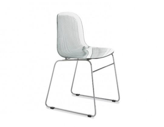 Jídelní židle Playa-T (chromovaná ocel, transparentní)