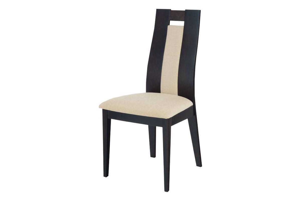 Jídelní židle PRUNA(buk, moření wenge,potah krémový)