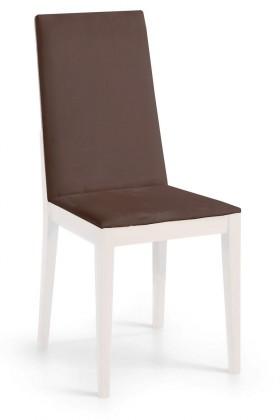 Jídelní židle Rabida  (bílá matná/antara tmavě hnědá)
