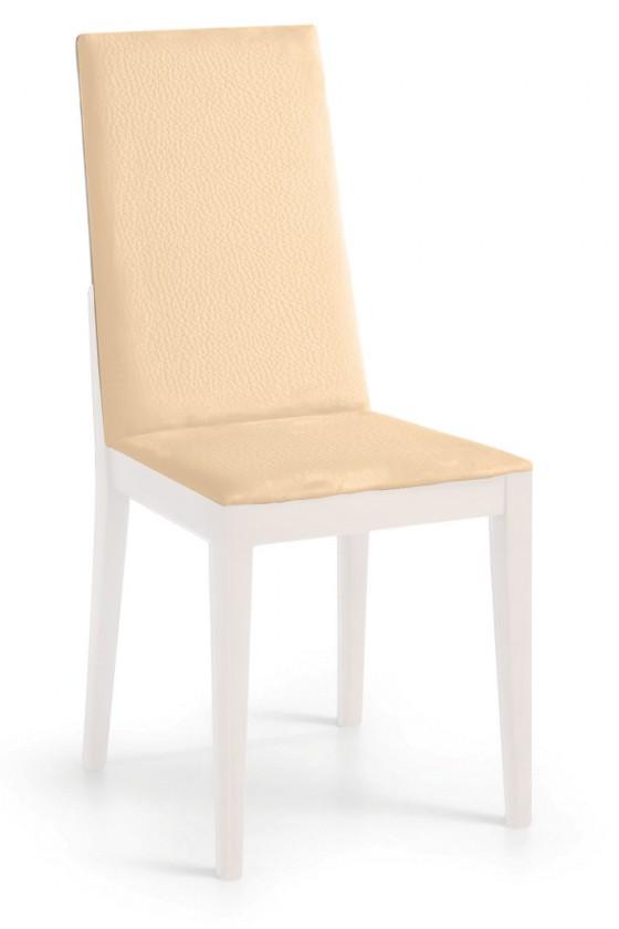 Jídelní židle Rabida  (bílá matná/eko kůže kaiman slonová kost)