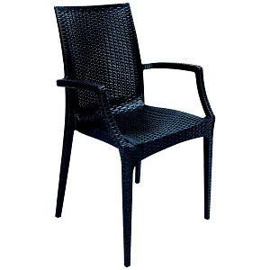 Jídelní židle Rattan křesílko(antracite)