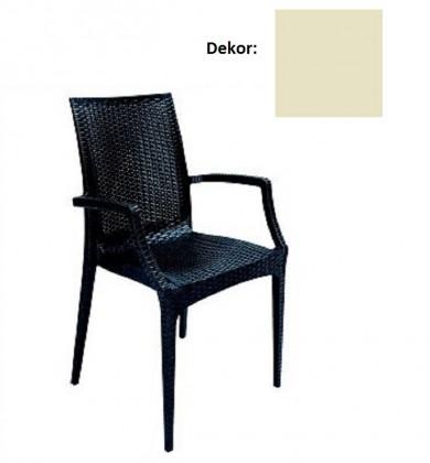 Jídelní židle Rattan křesílko(juta)