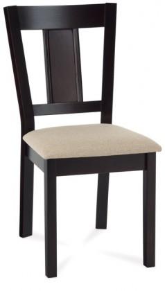 Jídelní židle Russe (kaučukovník, moření wenge,potah krémový)