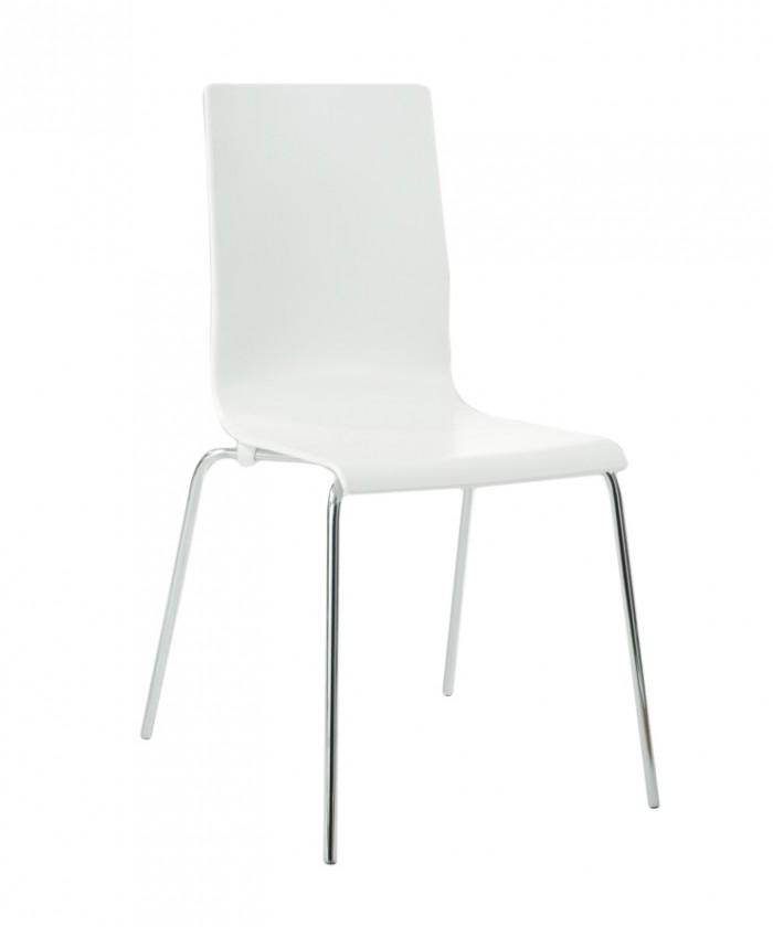 Jídelní židle Sarah(bílá mat)