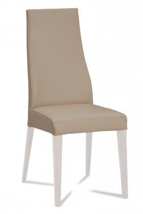 Jídelní židle Semora (bílá mat/eko kůže vienna hnědá)