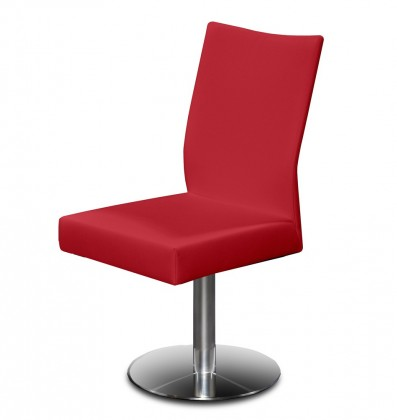 Jídelní židle Set - centrální noha (ocel nerez, bordó)