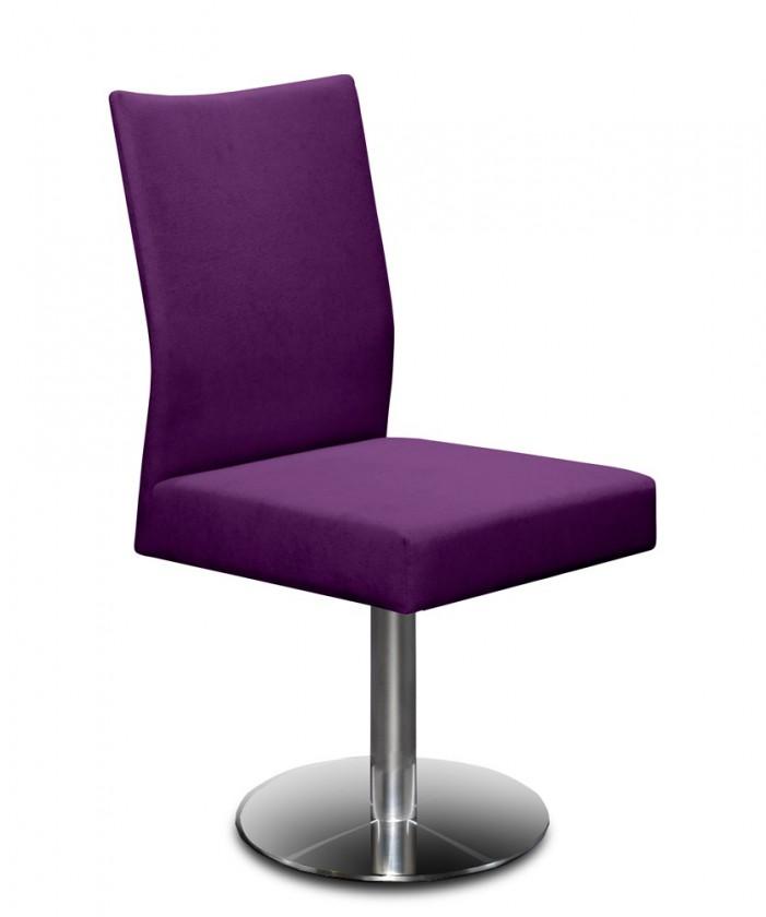 Jídelní židle Set - centrální noha (ocel nerez, fialová)