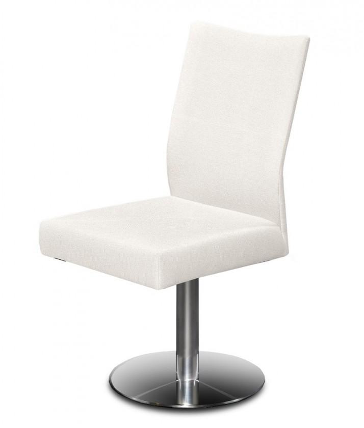 Jídelní židle Set - centrální noha (ocel nerez, krémová)