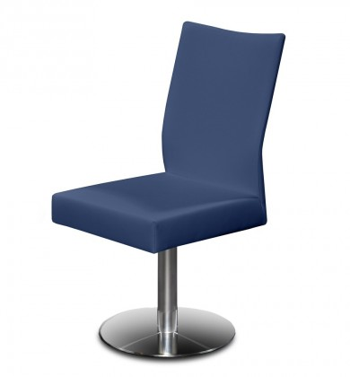 Jídelní židle Set - centrální noha (ocel nerez, modrá)