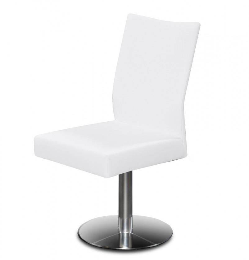 Jídelní židle Set - centrální noha (ocel nerez, slonová kost)