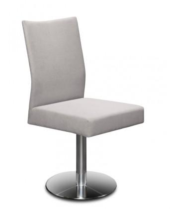 Jídelní židle Set - centrální noha (ocel nerez, světle šedá)