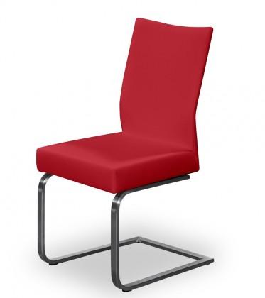 Jídelní židle Set - houpací (ocel nerez, bordó)