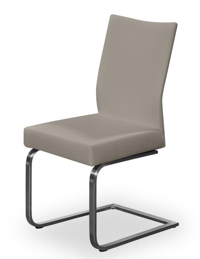 Jídelní židle Set - houpací (ocel nerez, eko kůže sahara)