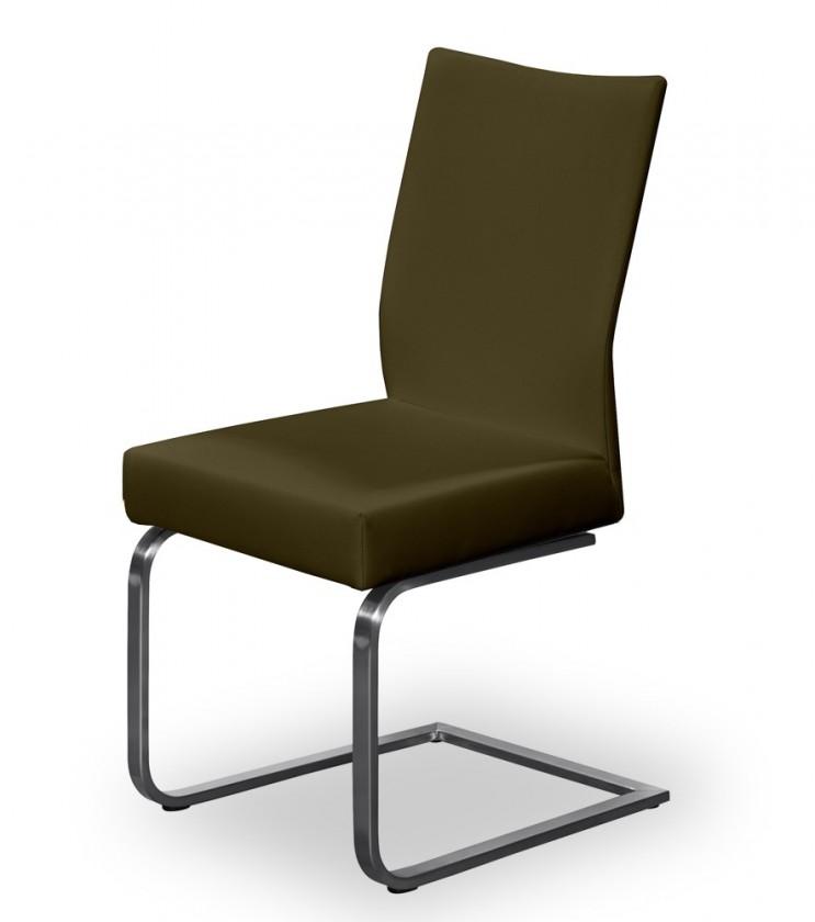 Jídelní židle Set - houpací (ocel nerez, hnědá)