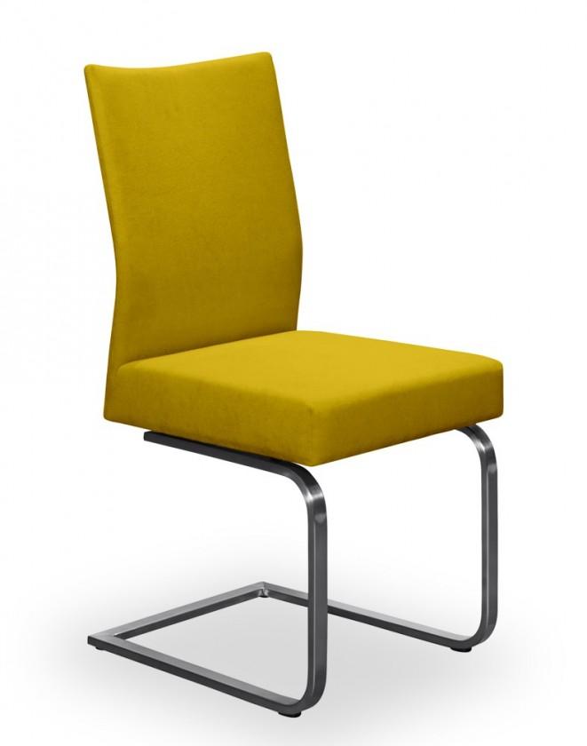 Jídelní židle Set - houpací (ocel nerez, kari)