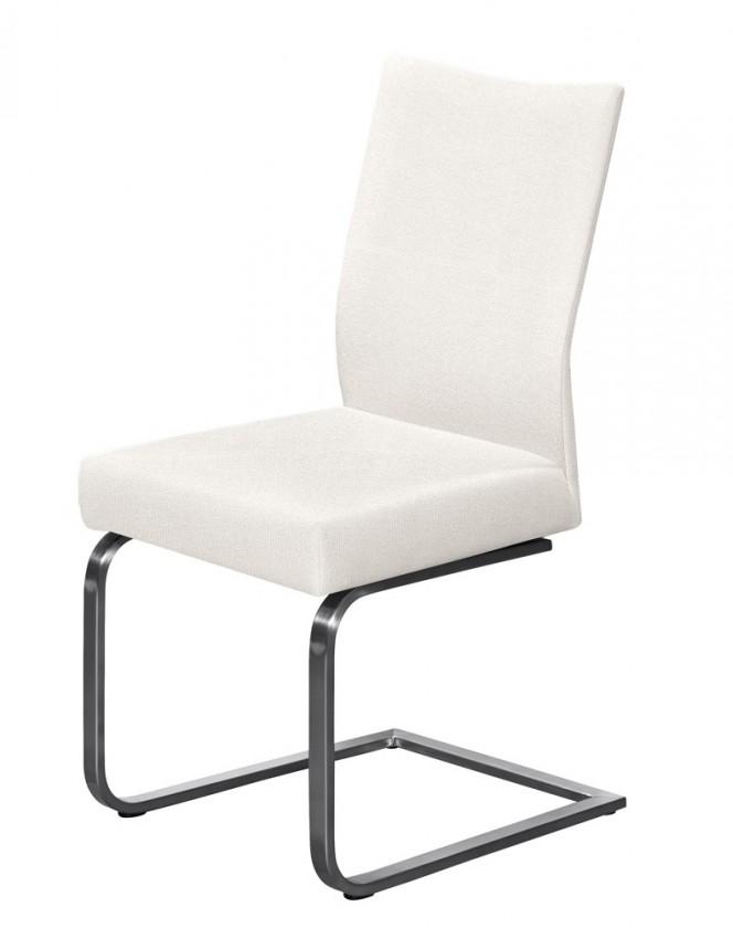Jídelní židle Set - houpací (ocel nerez, krémová)