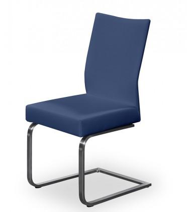 Jídelní židle Set - houpací (ocel nerez, modrá)