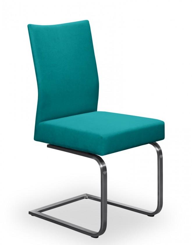 Jídelní židle Set - houpací (ocel nerez, petrolejová)