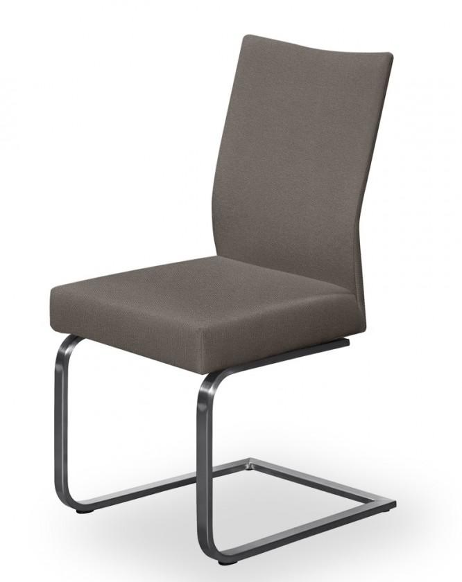 Jídelní židle Set - houpací (ocel nerez, šedohnědá)