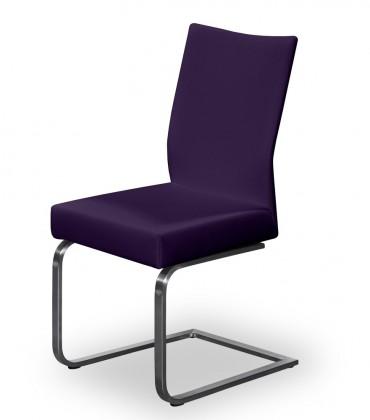 Jídelní židle Set - houpací (ocel nerez, temně fialová)