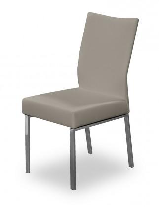 Jídelní židle Set (ocel nerez, eko kůže sahara)