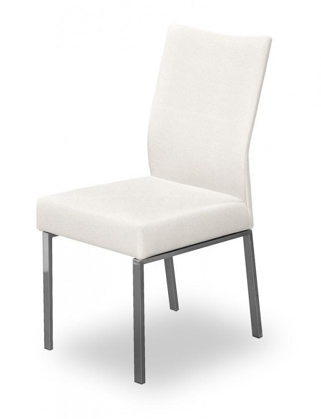 Jídelní židle Set (ocel nerez, krémová)