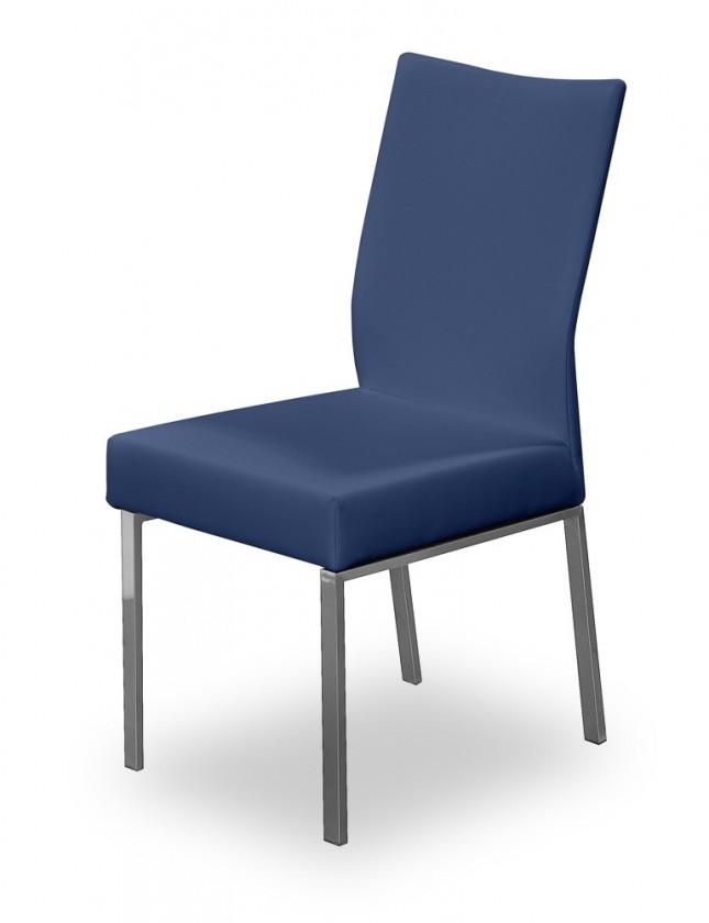 Jídelní židle Set (ocel nerez, modrá)