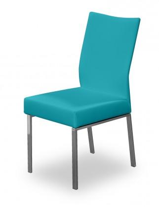 Jídelní židle Set (ocel nerez, petrolejová)