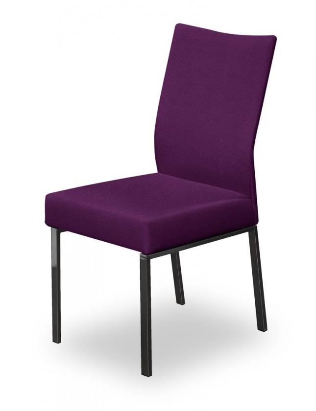 Jídelní židle Set (ocel nerez, rubínová)