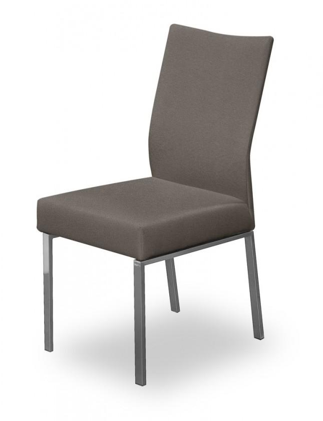 Jídelní židle Set (ocel nerez, šedohnědá)