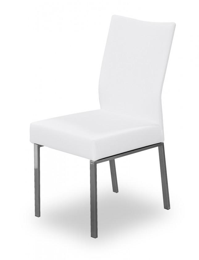 Jídelní židle Set (ocel nerez, slonová kost)
