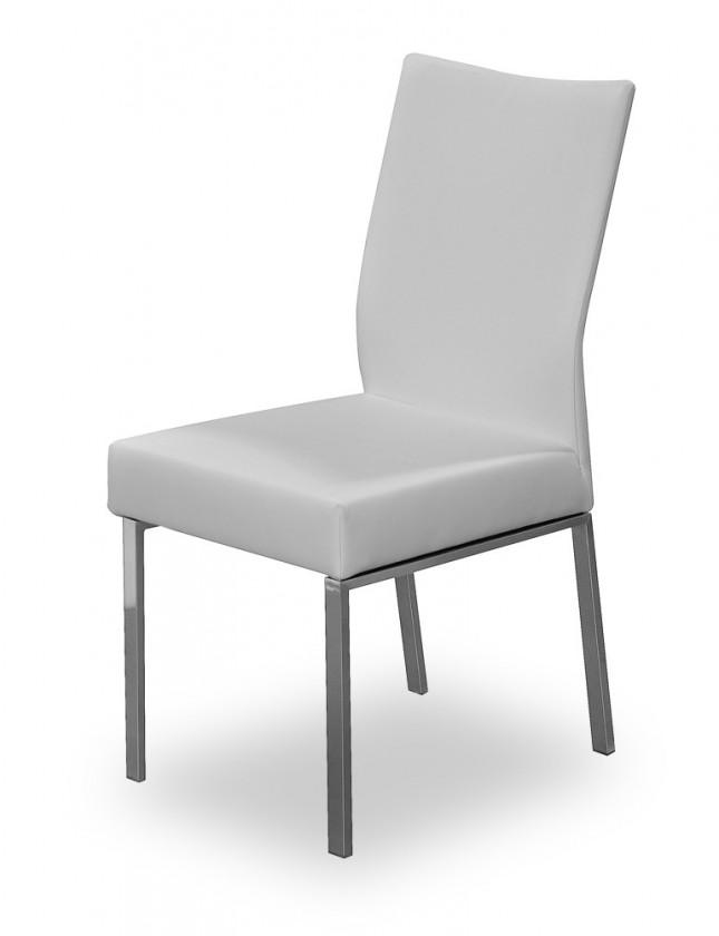 Jídelní židle Set (ocel nerez, světle šedá)